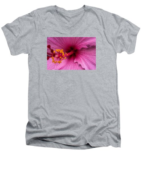 Red Bloom - Pla302 Men's V-Neck T-Shirt