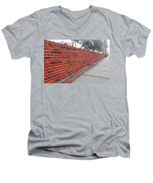 Red Brick Men's V-Neck T-Shirt