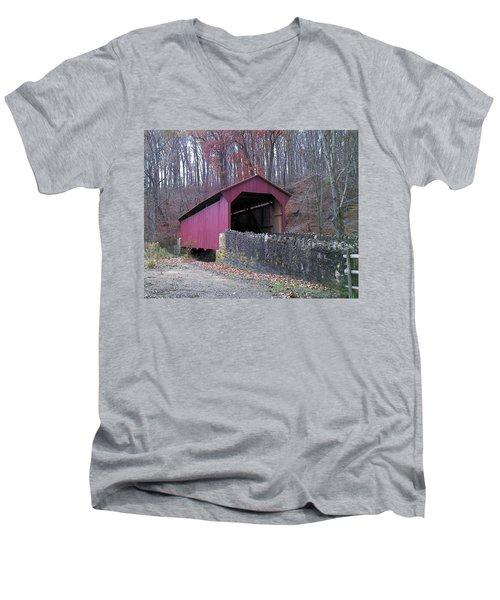 Red Bridge Men's V-Neck T-Shirt