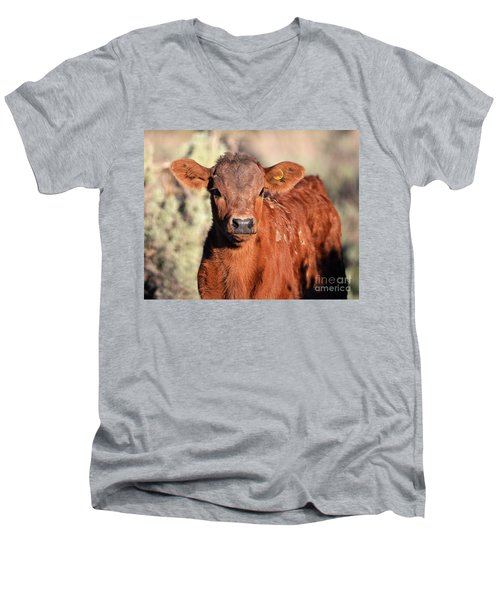 Red Calf Men's V-Neck T-Shirt