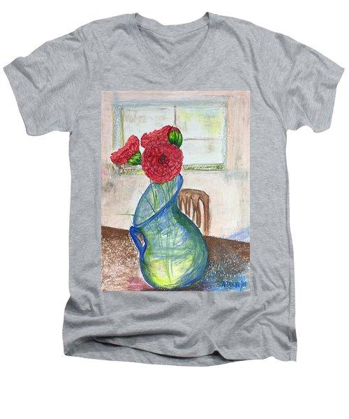 Red Carnations Men's V-Neck T-Shirt
