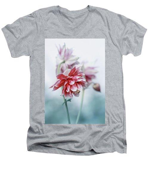 Red Columbines Men's V-Neck T-Shirt
