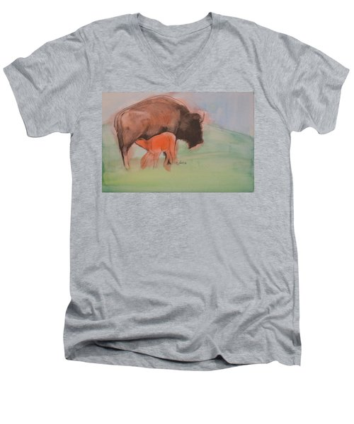 Red Dog Men's V-Neck T-Shirt