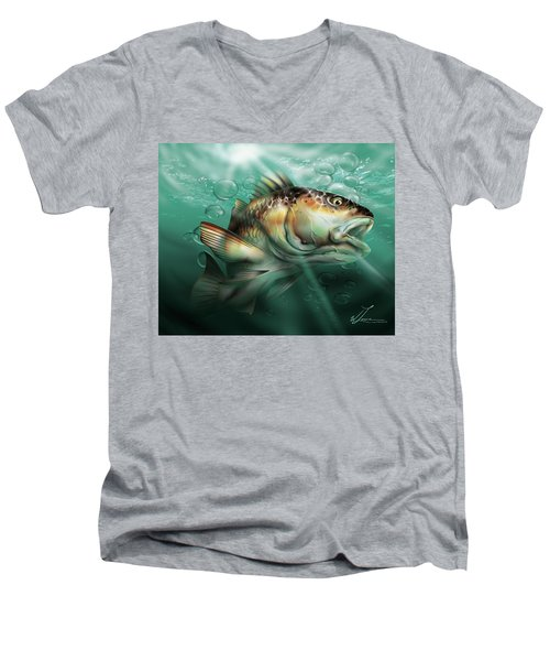 Red Drum Men's V-Neck T-Shirt