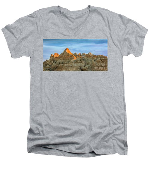 Red Faced Panorama Men's V-Neck T-Shirt