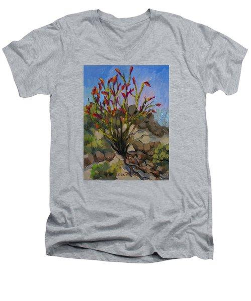 Red Flame Ocotillo 5 Men's V-Neck T-Shirt