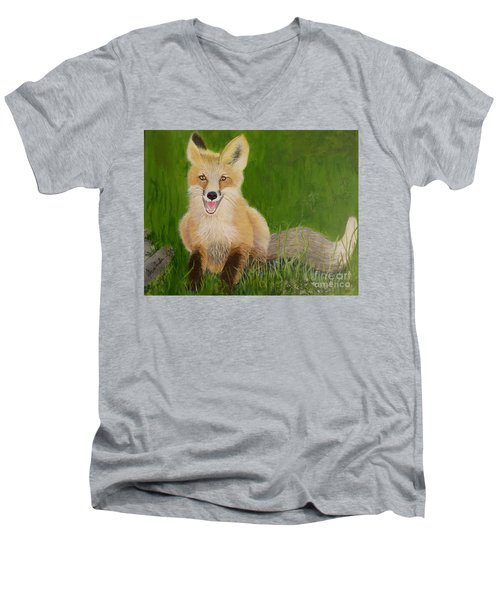 Red Fox 2 Men's V-Neck T-Shirt