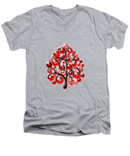 Red Glass Ornaments Men's V-Neck T-Shirt