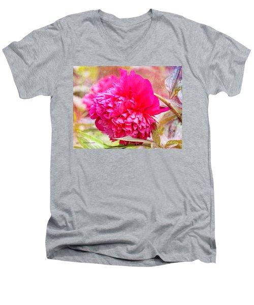 Red Haired Lady Men's V-Neck T-Shirt