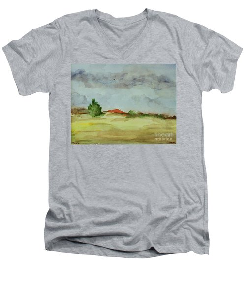Red Hill Landscape Men's V-Neck T-Shirt