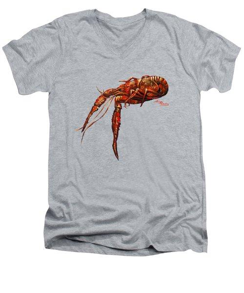 Red Hot Crawfish Men's V-Neck T-Shirt