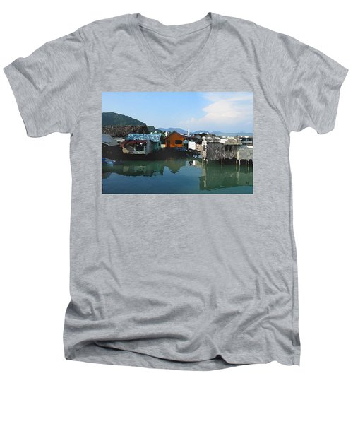 Red House On The Water Men's V-Neck T-Shirt