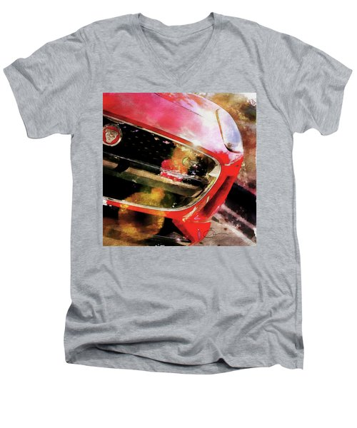 Red Jag Men's V-Neck T-Shirt by Robert Smith