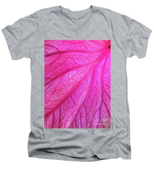 Red Leaf Arteries Men's V-Neck T-Shirt