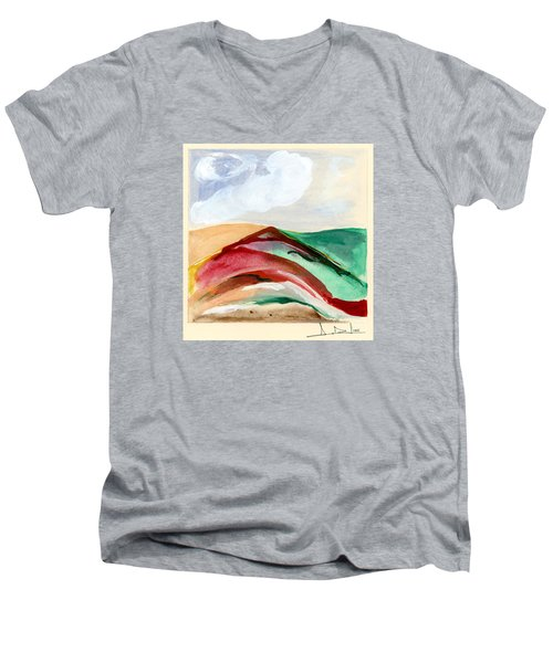 Red Mountain Dawn Men's V-Neck T-Shirt