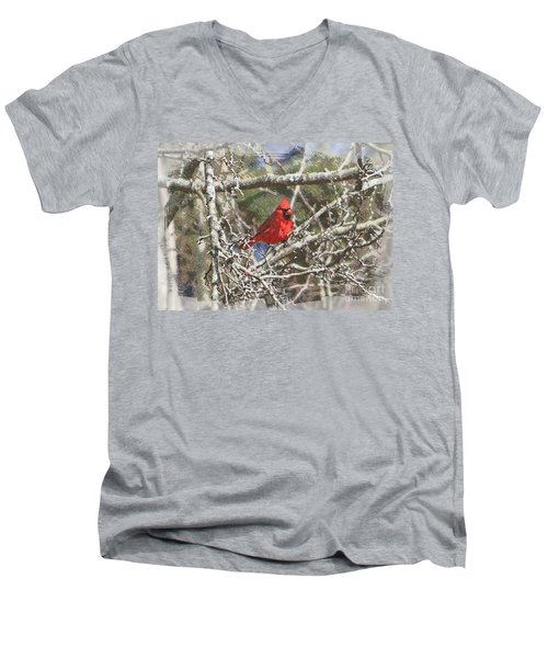 Men's V-Neck T-Shirt featuring the photograph Red Neck by Robert Pearson