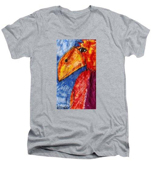 Red Parrot Men's V-Neck T-Shirt