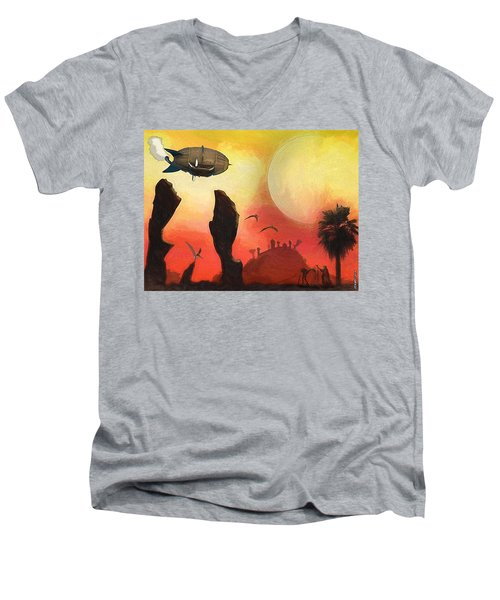 Red Planet Men's V-Neck T-Shirt