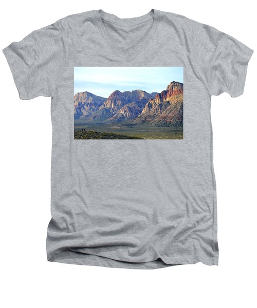 Men's V-Neck T-Shirt featuring the photograph Red Rock Canyon - Scale by Glenn McCarthy Art and Photography