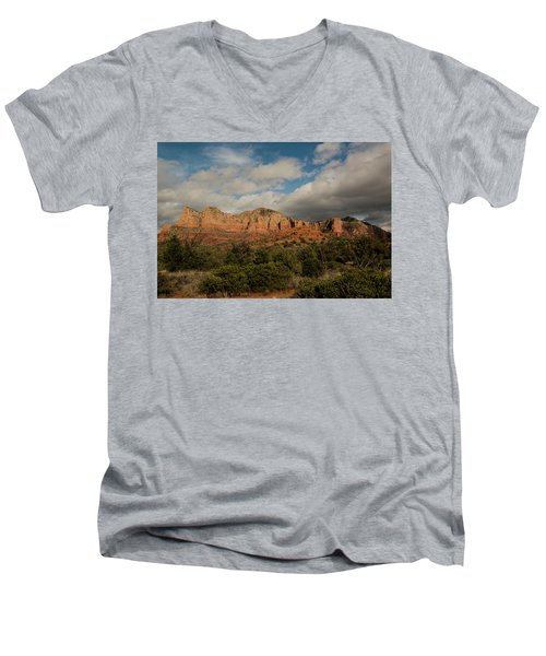 Men's V-Neck T-Shirt featuring the photograph Red Rock Country Sedona Arizona 3 by David Haskett
