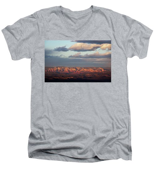 Men's V-Neck T-Shirt featuring the photograph Red Rock Crossing, Sedona by Ron Chilston