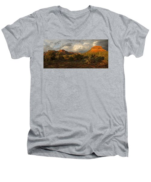Red Rock Majesty Men's V-Neck T-Shirt
