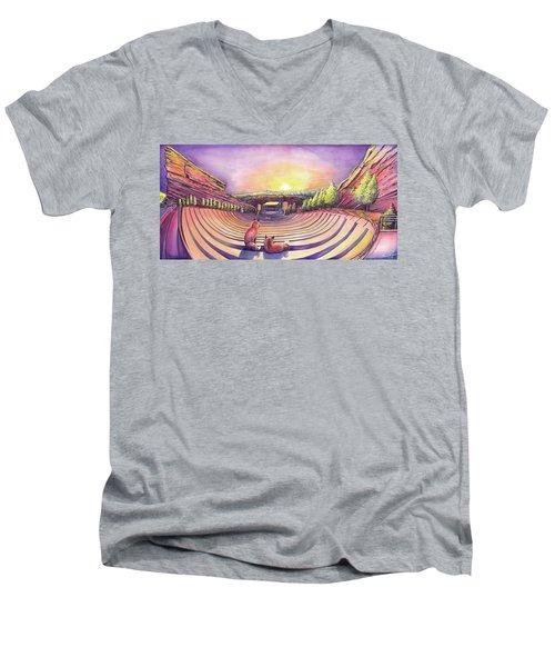 Red Rocks Sunrise Men's V-Neck T-Shirt