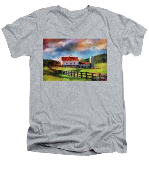 Red Roof Barn Men's V-Neck T-Shirt
