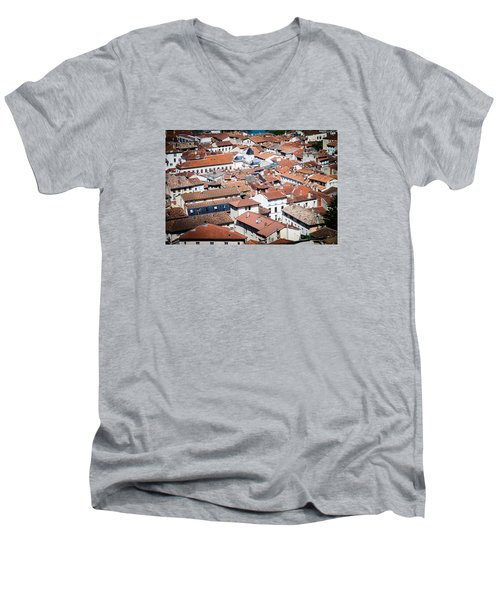 Men's V-Neck T-Shirt featuring the photograph Red Roof by Jason Smith