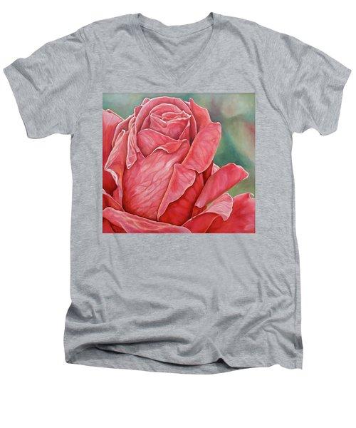Red Rose 93 Men's V-Neck T-Shirt