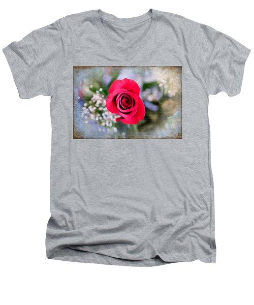 Red Rose Elegance Men's V-Neck T-Shirt
