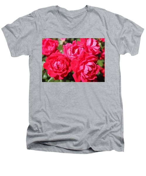 Red Roses 1 Men's V-Neck T-Shirt