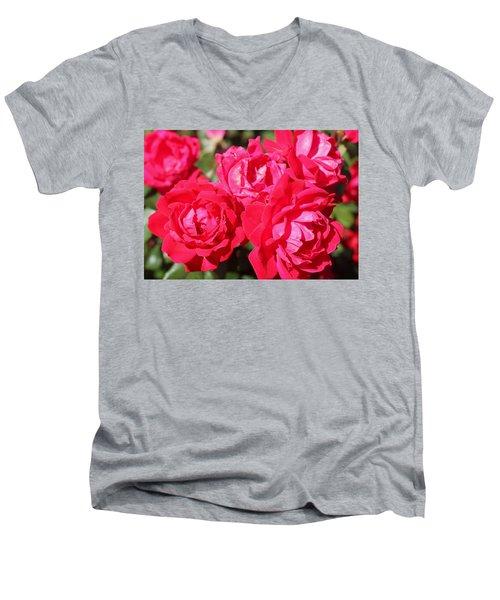 Red Roses 1 Men's V-Neck T-Shirt