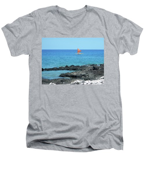 Red Sail Men's V-Neck T-Shirt