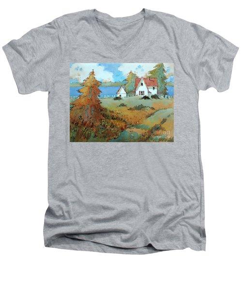 Red Shutters Men's V-Neck T-Shirt