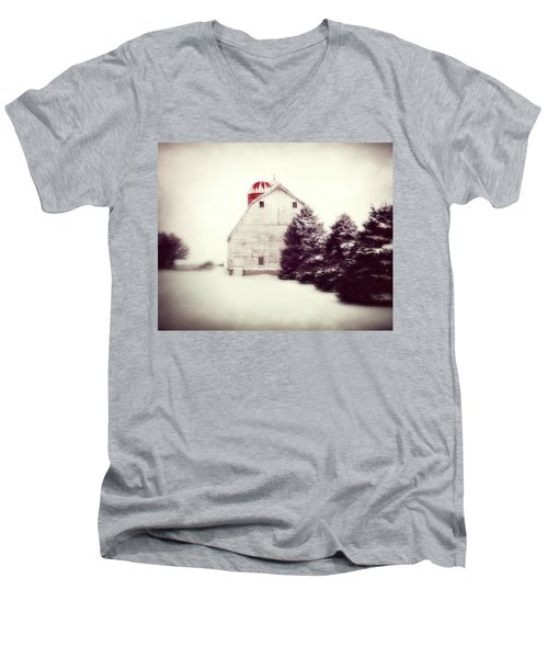 Red Silo Men's V-Neck T-Shirt