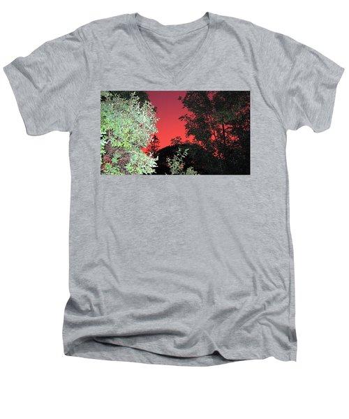 Red Sunset Men's V-Neck T-Shirt