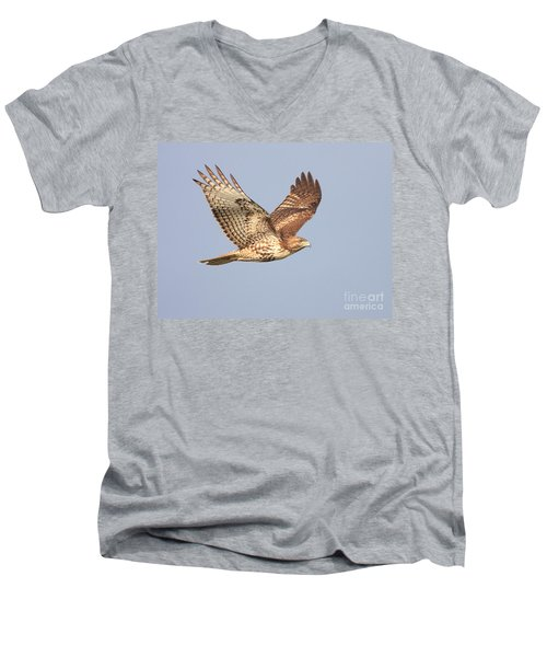 Red Tailed Hawk 20100101-1 Men's V-Neck T-Shirt