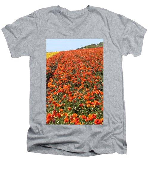 Red Tecolote From Carlsberg Men's V-Neck T-Shirt