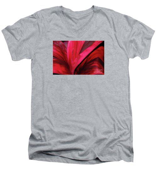 Red Ti Leaf Plant - Hawaii Men's V-Neck T-Shirt