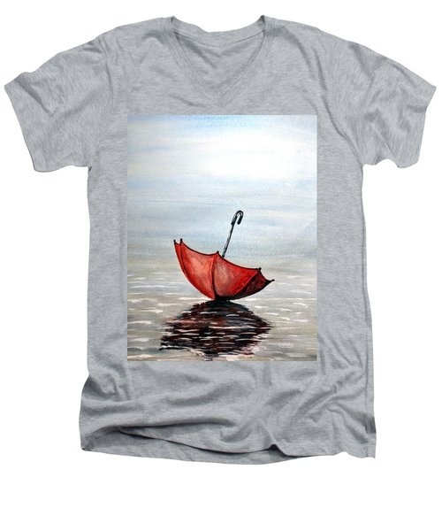 Red Umbrella Men's V-Neck T-Shirt