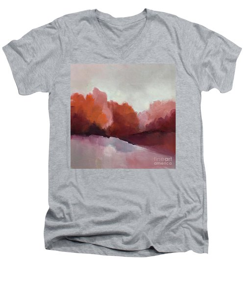 Red Valley Men's V-Neck T-Shirt