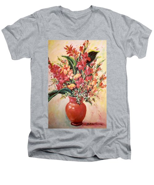 Red Vase Men's V-Neck T-Shirt