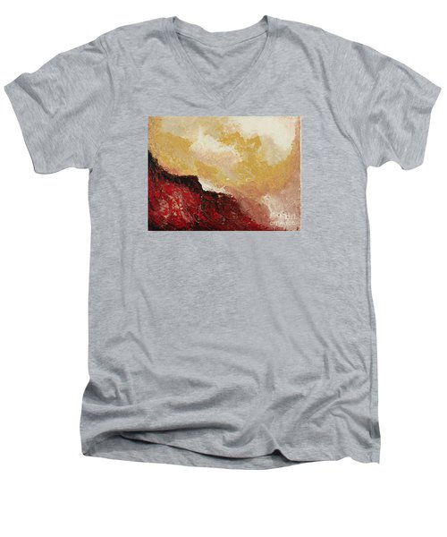Red Waves Men's V-Neck T-Shirt
