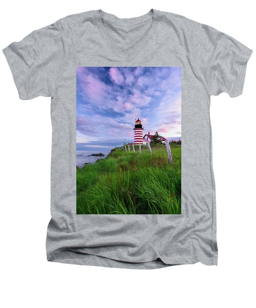Red, White And Blue - Vertical Men's V-Neck T-Shirt
