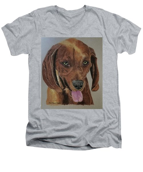 Redbone Coonhound Men's V-Neck T-Shirt