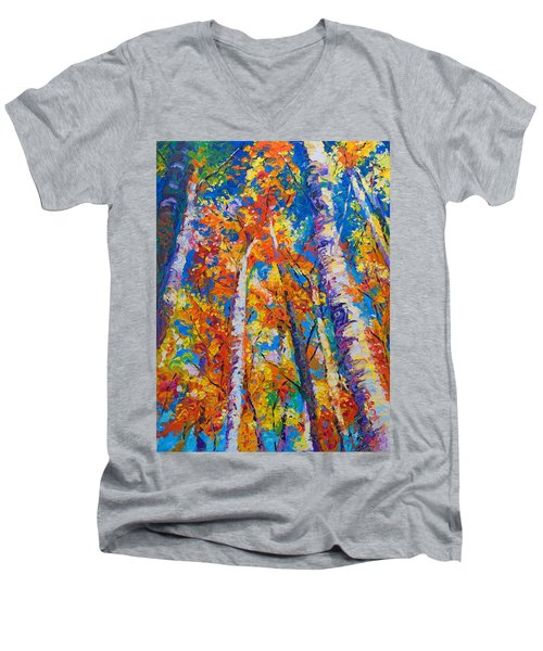 Redemption - Fall Birch And Aspen Men's V-Neck T-Shirt