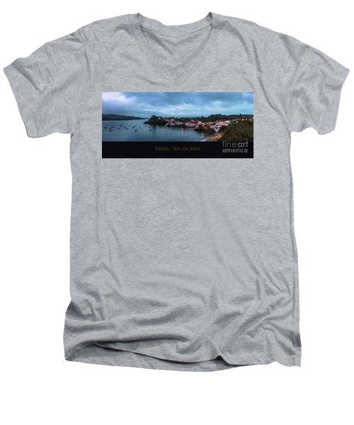 Redes Ria De Ares La Coruna Spain Men's V-Neck T-Shirt