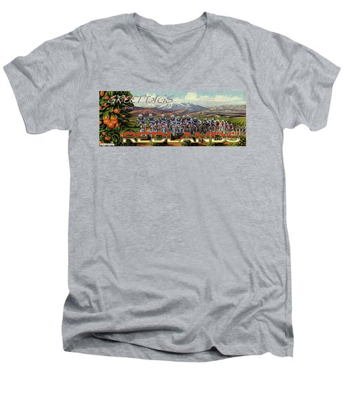 Redlands Greetings Men's V-Neck T-Shirt