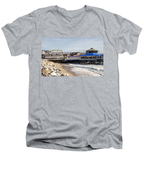 Redondo Beach Pier Shopping Men's V-Neck T-Shirt